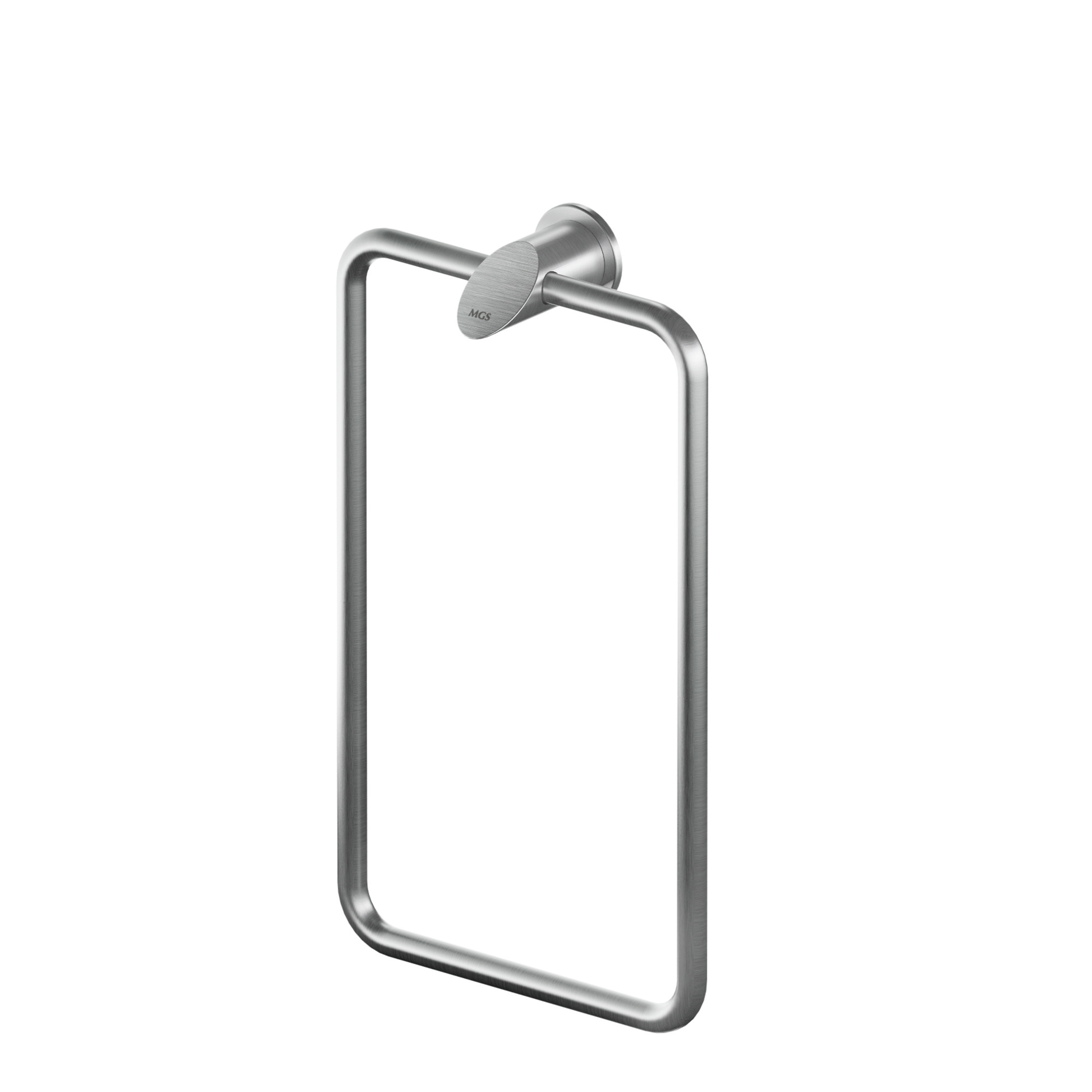 MGS AC933 Rectangular Towel Holder - matte stainless
