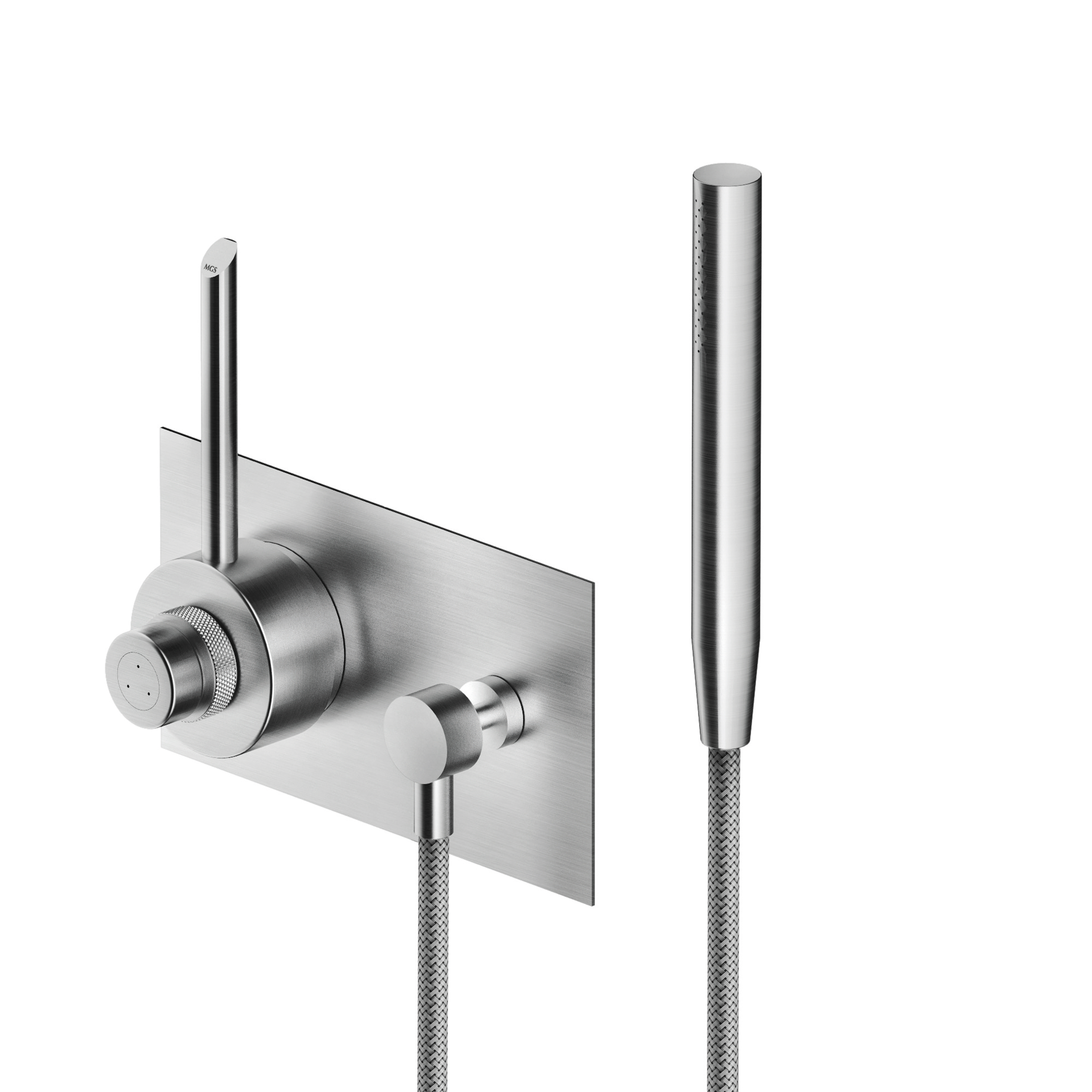 MGS CB407 Thermostatic Shower Mixer with Hand Shower - matte stainless