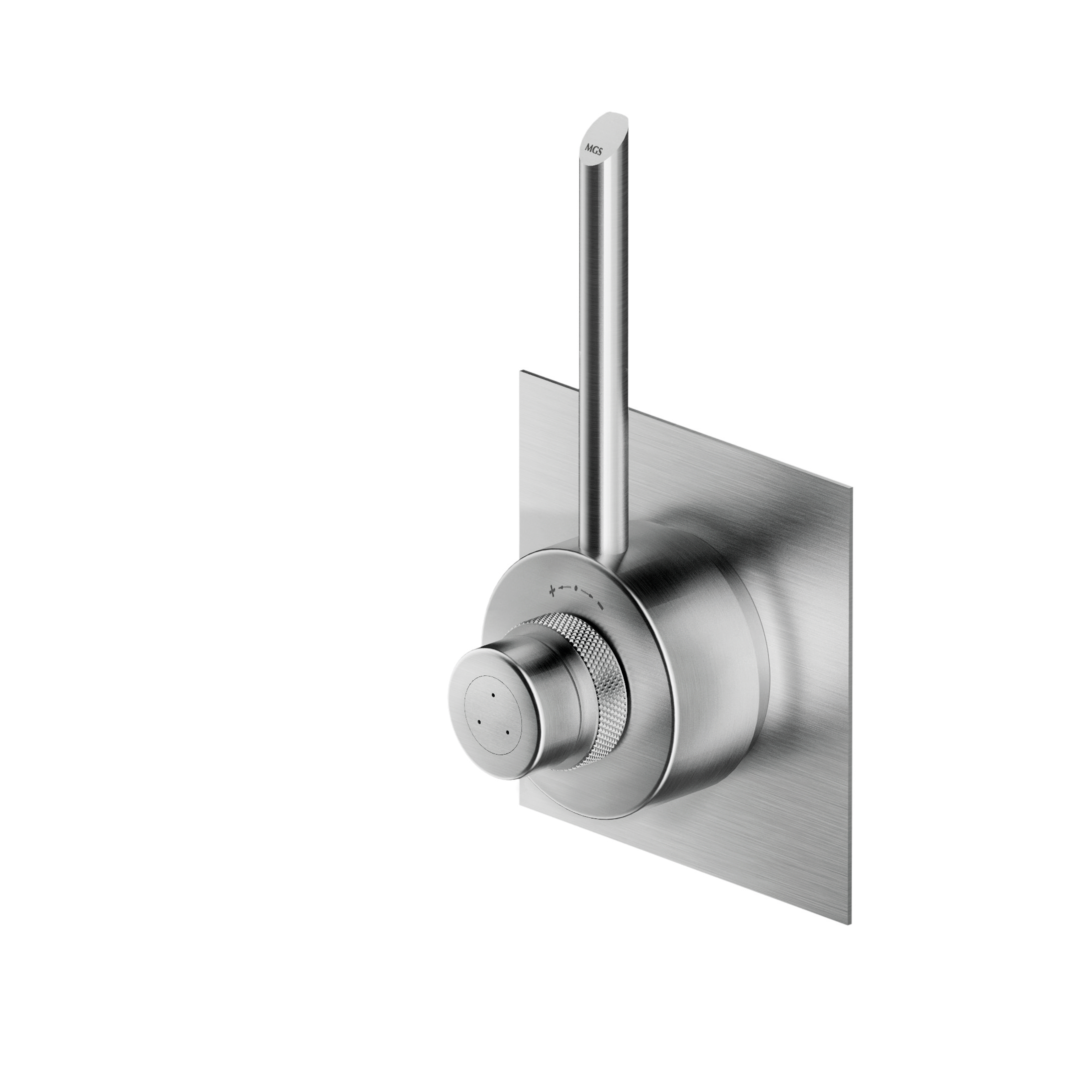 MGS CB431 Built In Thermostatic Shower Mixer - matte stainless