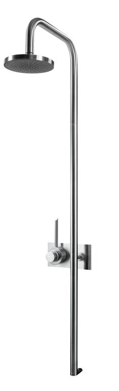 MGS CB436 Thermostatic Shower only without Shower Head - matte stainless