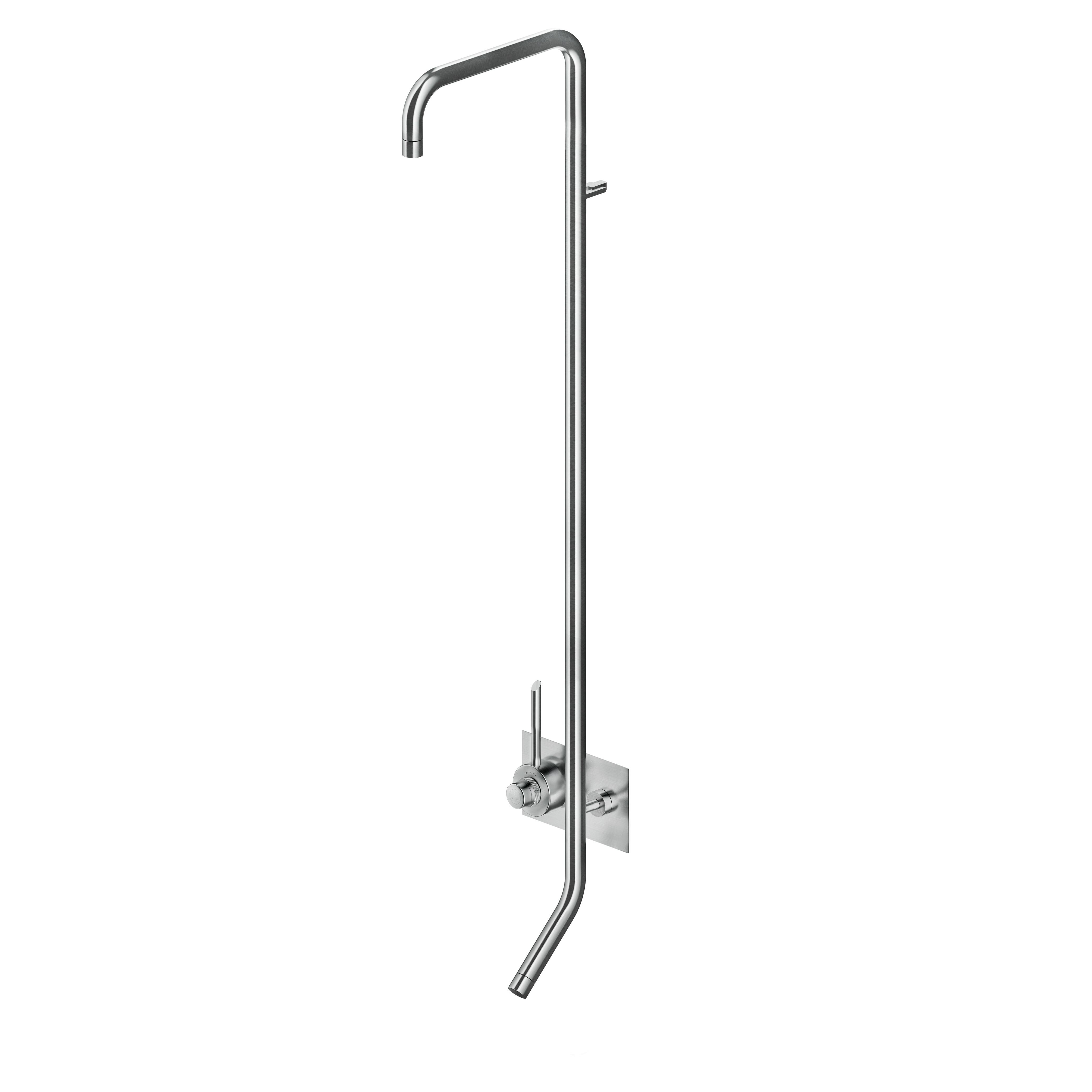 MGS CB437 Thermostatic Shower and Bath without Shower Head - matte stainless