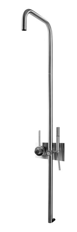 MGS CB438 Thermostatic Shower with Hand Hand Shower - matte stainless