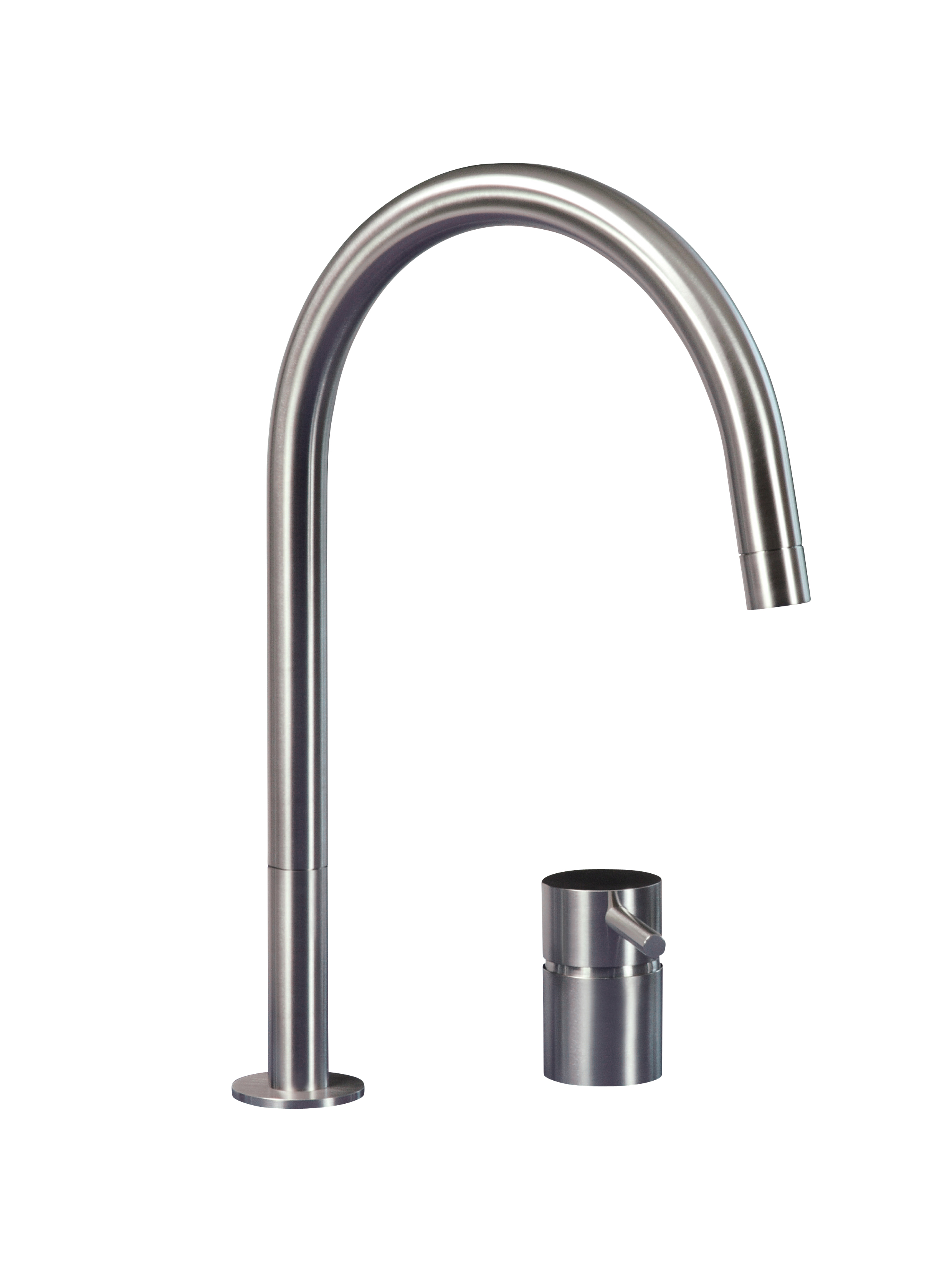 MGS F2R 2 Hole Kitchen Faucet - matte stainless