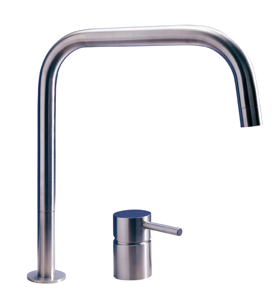 MGS F2SQ 2 Hole Single Control Faucet with SQ Spout - matte stainless
