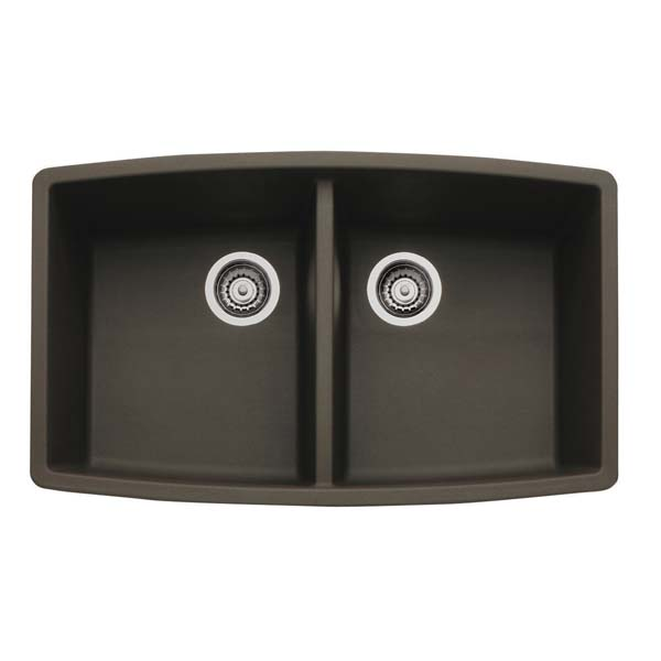 440068 Blanco Performa Silgranit II Double Bowl - Cafe Brown