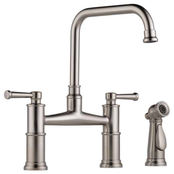 Brizo 62525LF-SS Artesso Bridge Faucet with Side Sprayer - Stainless