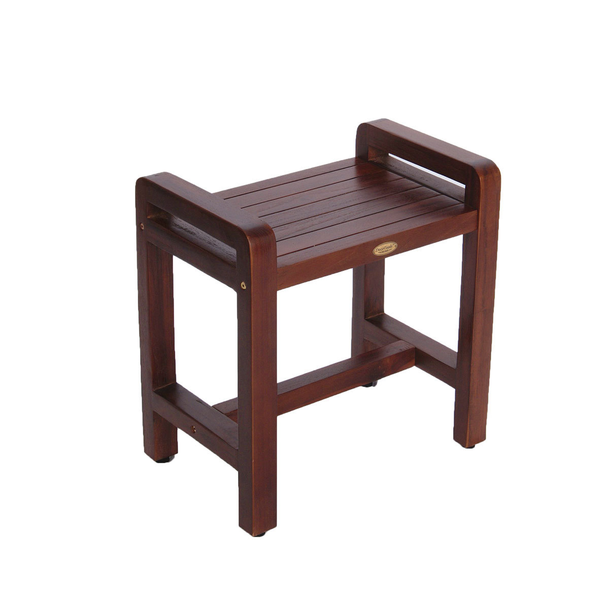 DT106 Classic Ergonomic Teak Spa Stool with Shelf and Lift Aide Arms