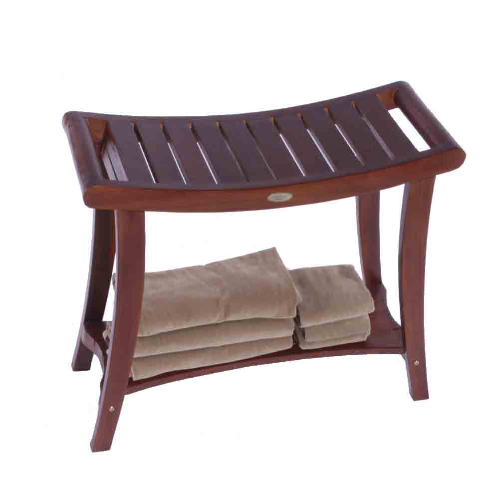 "DT122 30"" Teak Shower Bench with Extended Height"