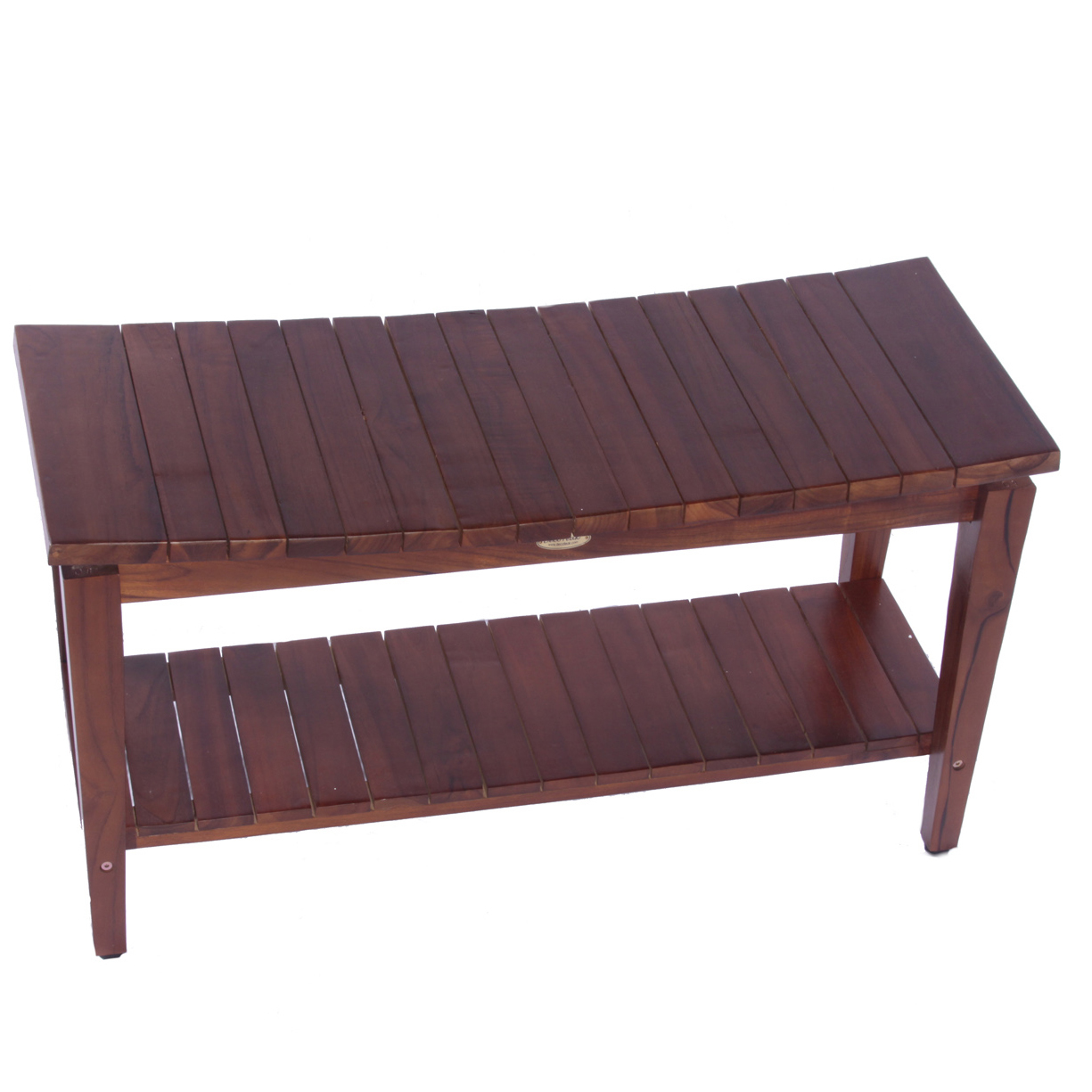 "DT140 35"" Teak Shower Bench with Shelf"