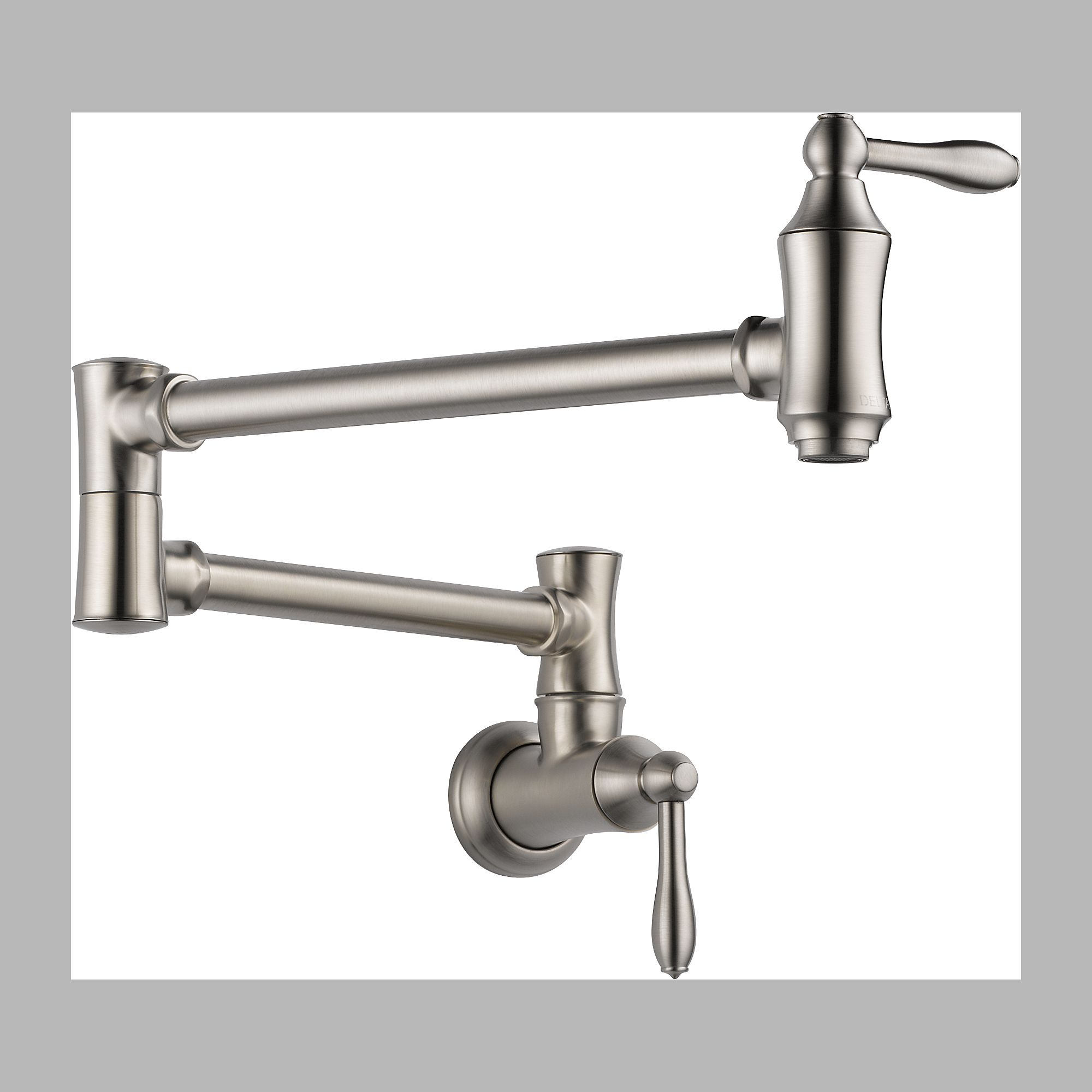 Delta 1177LF-SS Pot Filler Faucet - Wall Mount