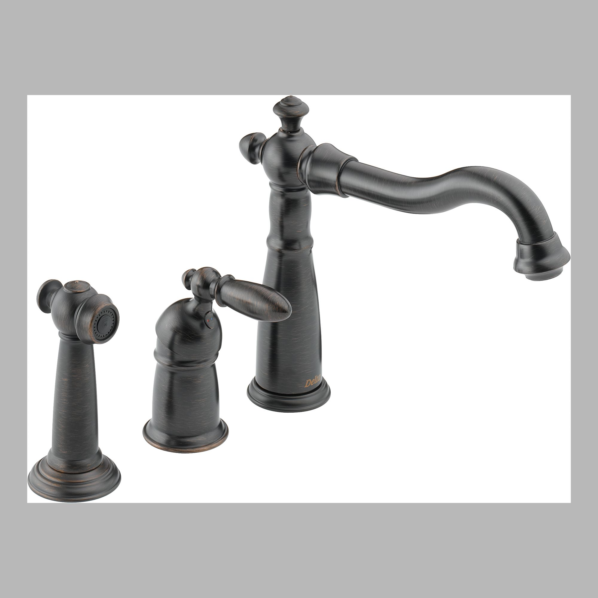 Delta · Delta 155 RB DST Single Handle Kitchen Faucet With Spray