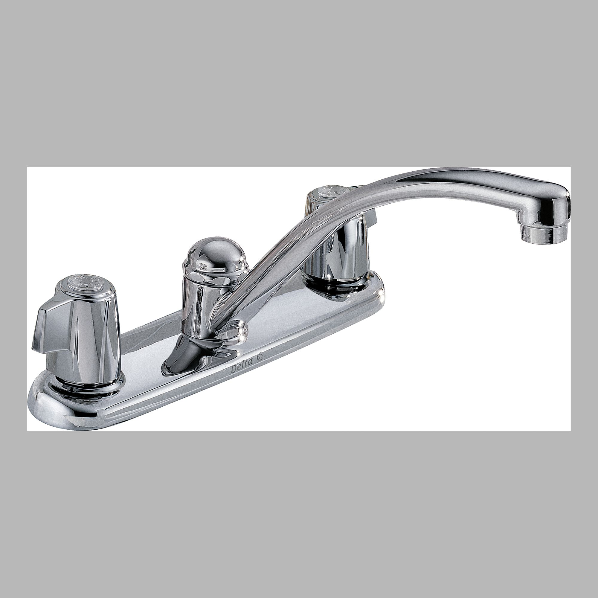 Delta 2100LF Two Handle Kitchen Faucet without Spray