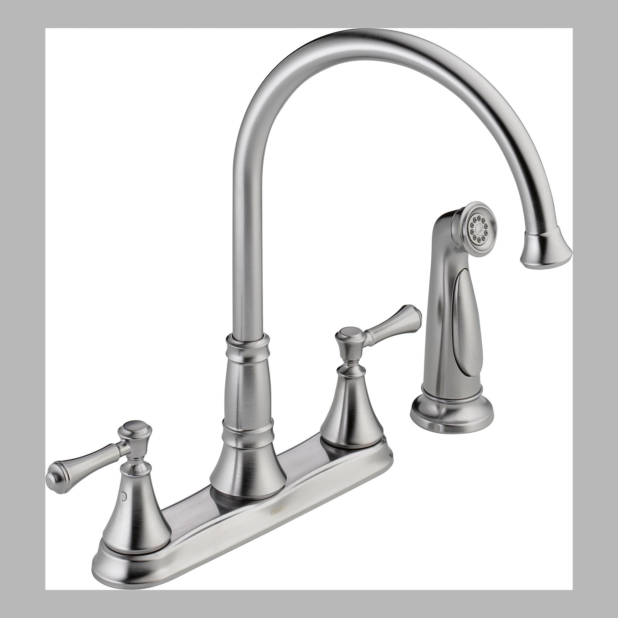 Delta 2497LF-AR Two Handle Kitchen Faucet with Spray