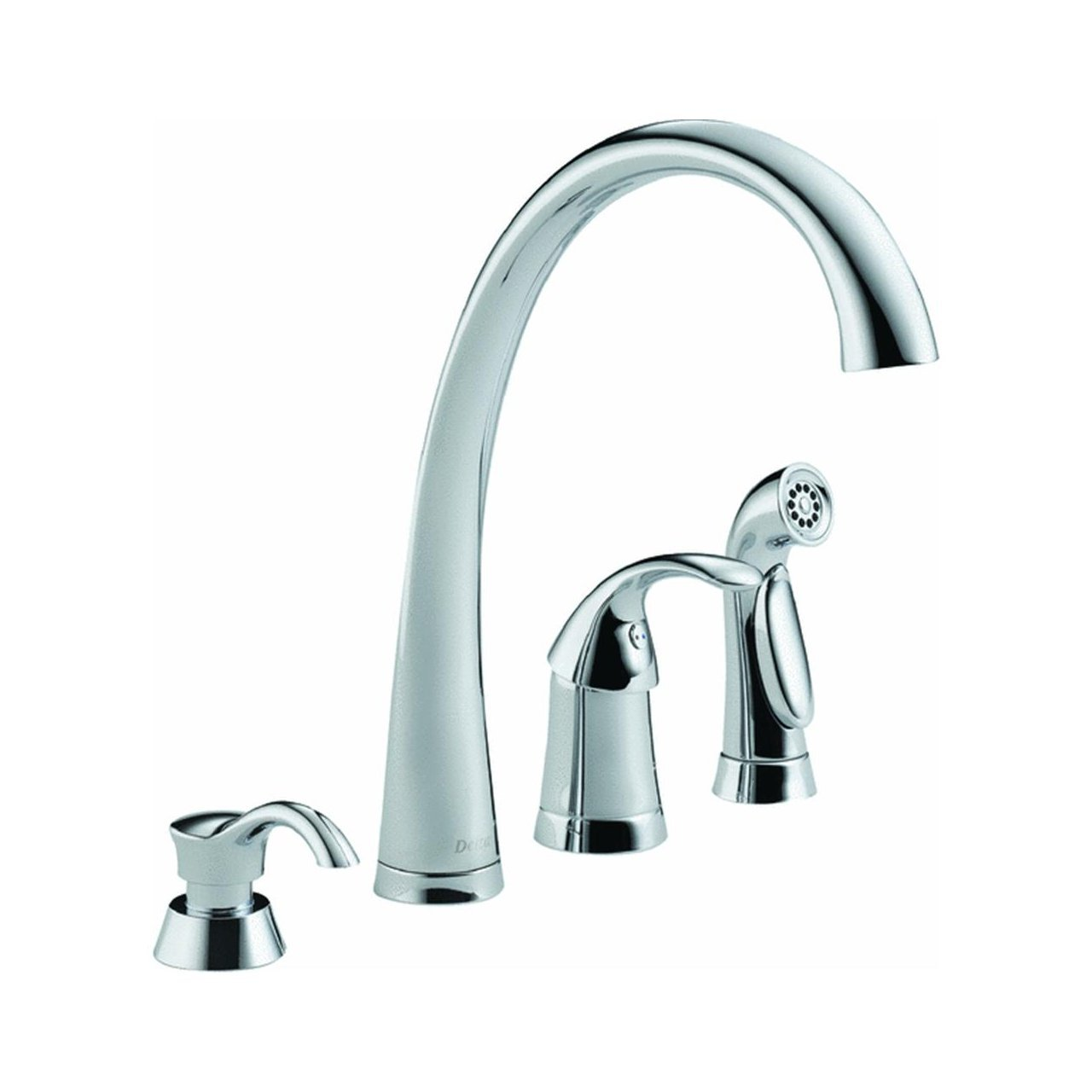 Delta 4380-SD-DST Single Handle Kitchen Faucet with Spray and Soap Dispenser