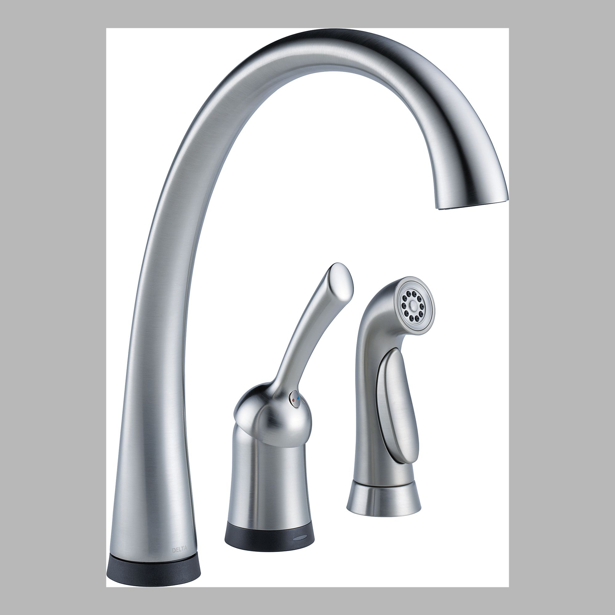 Delta 4380T-AR-DST Single Handle Kitchen Faucet and Spray