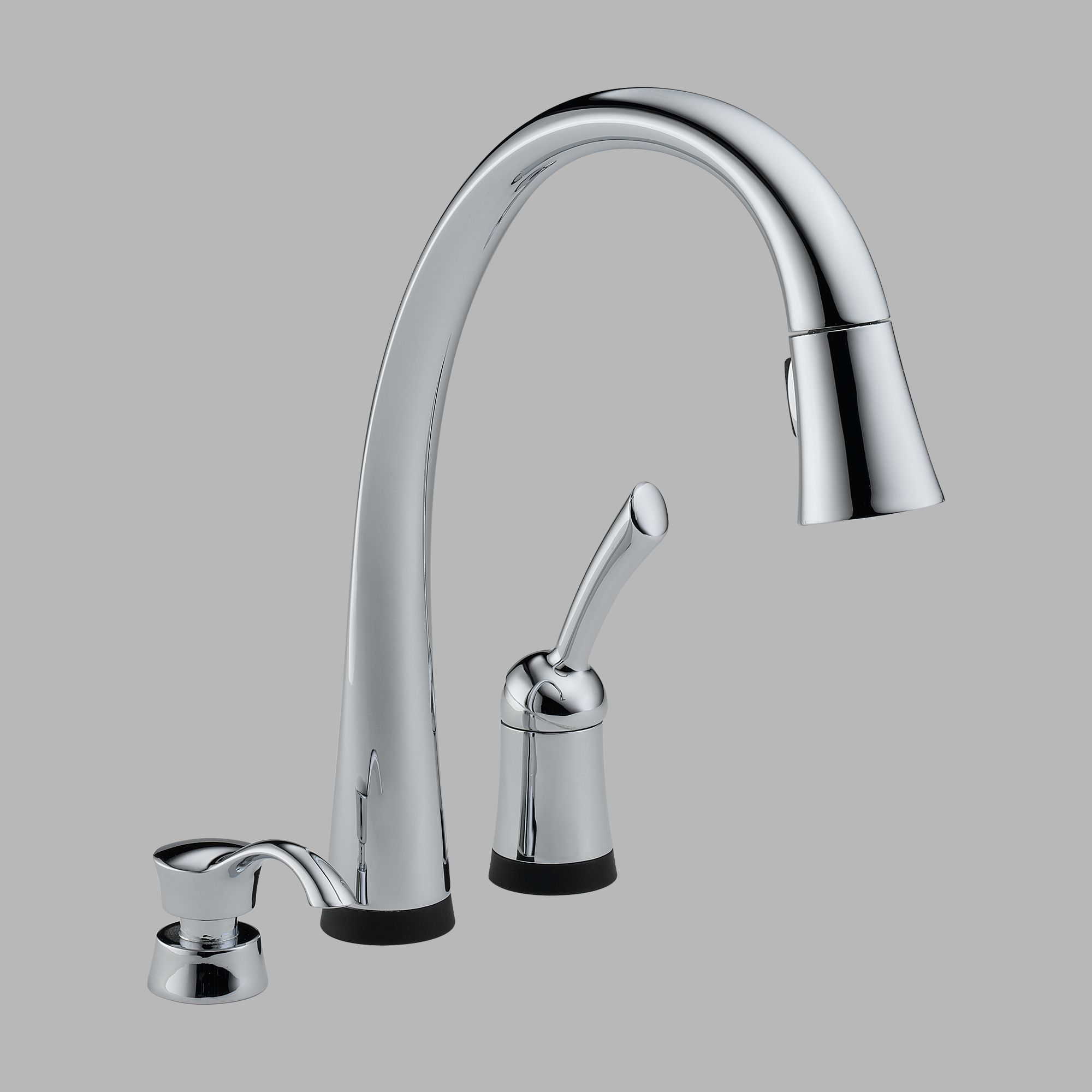 Delta 980T-SD-DST Single Handle Pull Down Kitchen Faucet and Soap Dispenser