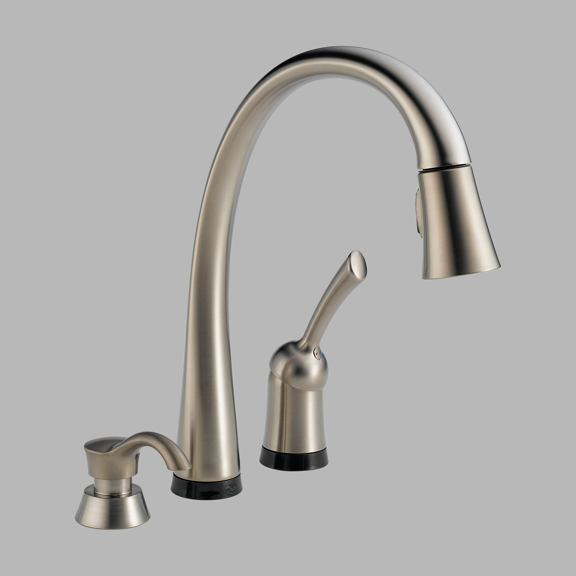 Delta 980T-SSSD-DST Single Handle Pull Down Kitchen Faucet and Soap Dispenser