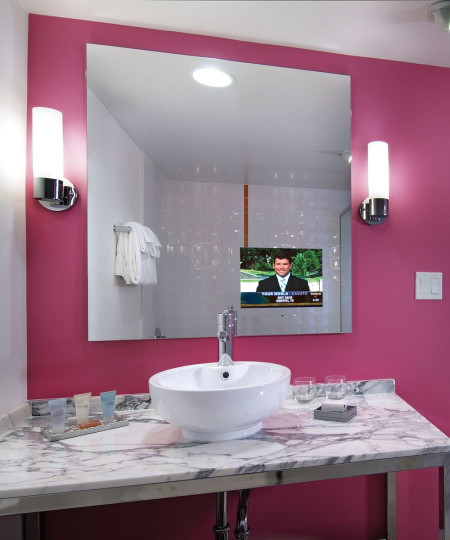 Electric Mirror LOF5040-AV-156 Loft 50x40 Bathroom Mirror TVs with Spectrum