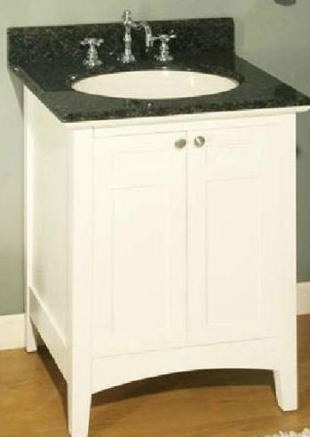 "Empire Industries B24W Biltmore 24"" Two Doors Vanity in White"