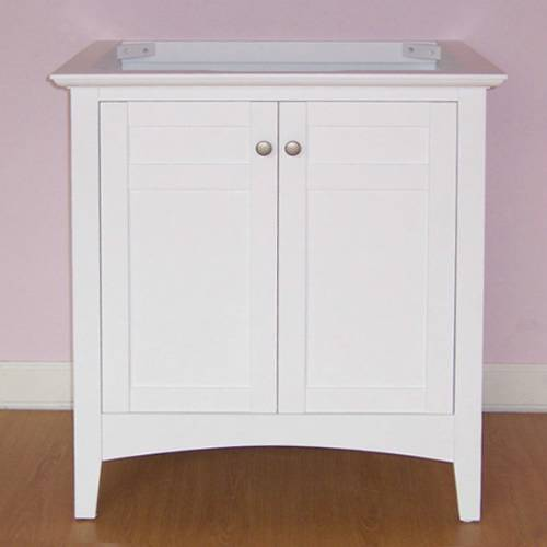 "Empire Industries B30W Biltmore 30"" Two Doors Vanity in White"
