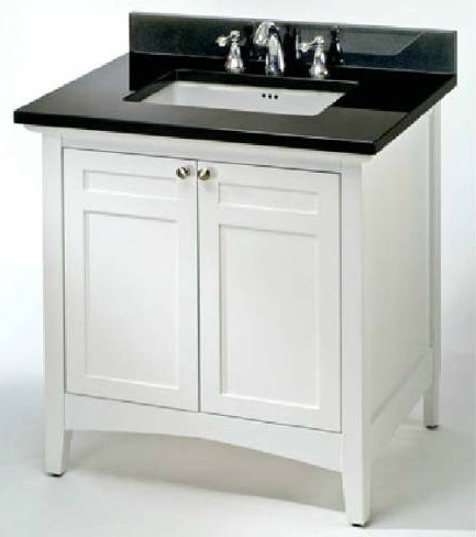 "Empire Industries B36W Biltmore 36"" Two Doors Vanity in White"