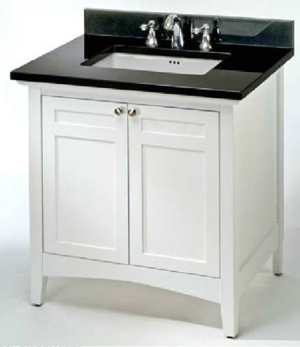 "Empire Industries B42W Biltmore 42"" Two Door Vanity in White"