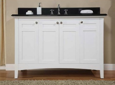 "Empire Industries B48W Biltmore 48"" Four Door Vanity in White"