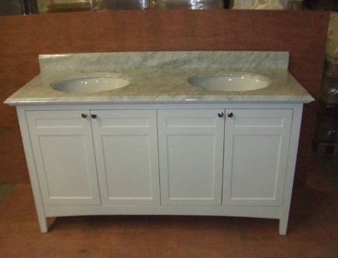 "Empire Industries B60W Biltmore 60"" Four Door Vanity in White"
