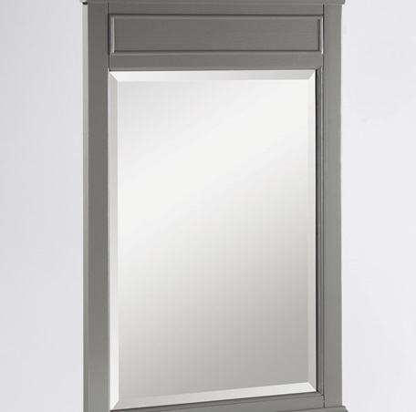 "Fairmont 1504-M24 Smithfield 24"" Mirror - Medium Gray"