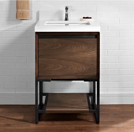 "Fairmont 1505-V24 M4 24"" Vanity - Natural Walnut"