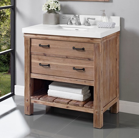 "Fairmont 1507-VH36 Napa 36"" Open Shelf Vanity - Sonoma Sand"