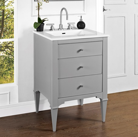 "Fairmont 1510-V24 Charlottesville 24"" Vanity - Light Gray"