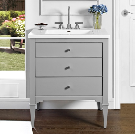 "Fairmont 1510-V30 Charlottesville 30"" Vanity - Light Gray"