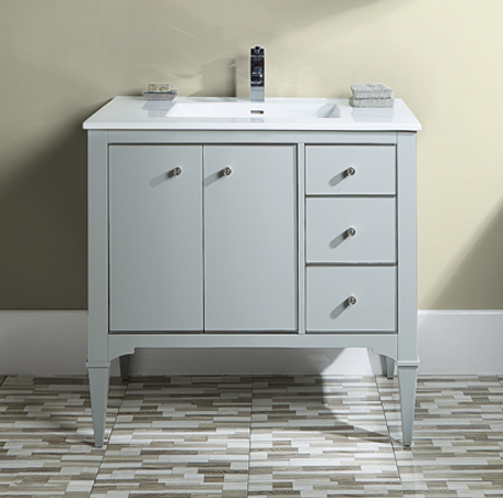 "Fairmont 1510-V36 Charlottesville 36"" Vanity - Light Gray"