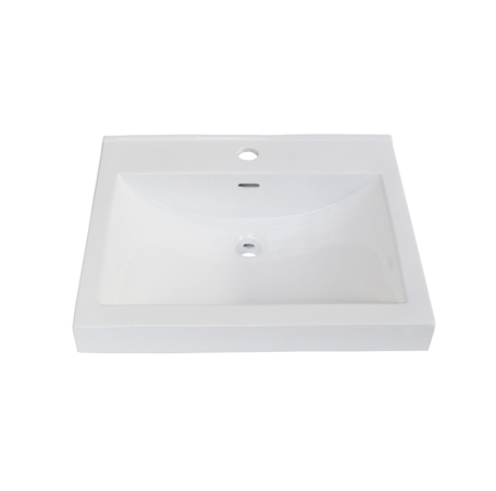"Fairmont S-11021W1 Sinks 21x18"" Ceramic Sink Pre-drilled - Single Hole"