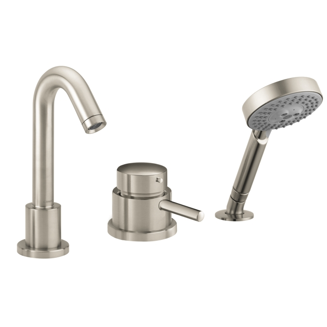 Hansgrohe 04127820 Talis S 3 Hole Thermostatic Tub Filler Trim - Brushed Nickel