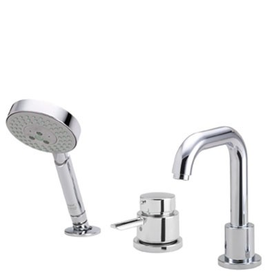 Hansgrohe 04128000 Focus S 3-Hole Thermostatic Tub Filler Trim - Chrome