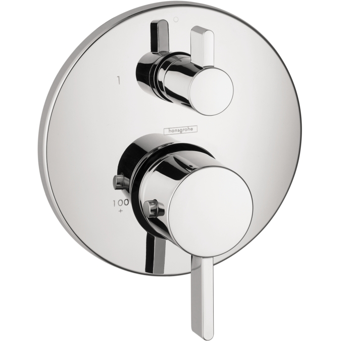 Hansgrohe 04231000 S Thermostatic Trim with Volume Control and Diverter - Chrome