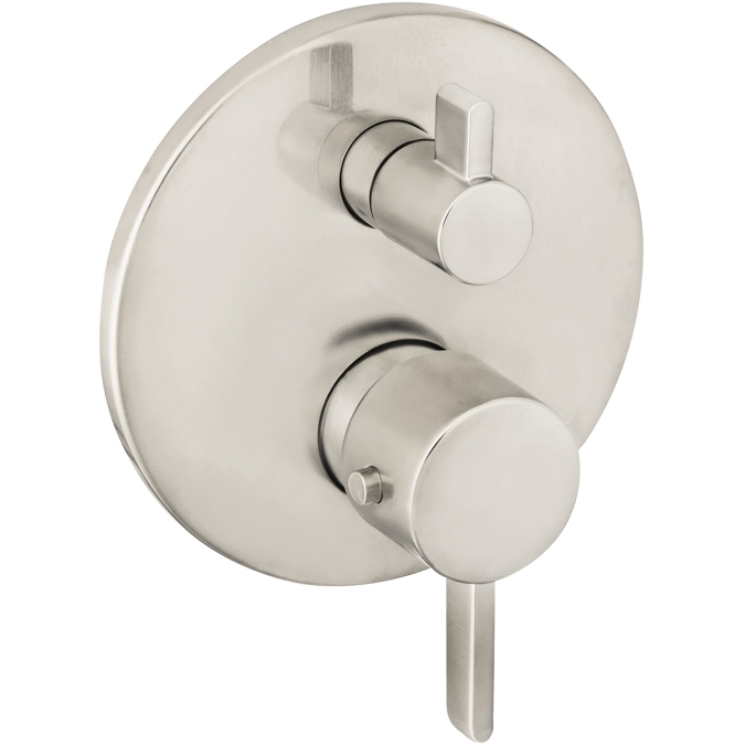 Hansgrohe 04231820 S Thermostatic Trim with Volume Control and Diverter - Brushed Nickel
