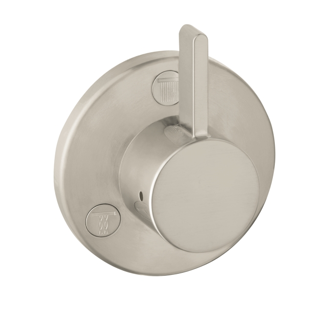 Hansgrohe 04232820 S Trio/Quattro Diverter Trim - Brushed Nickel