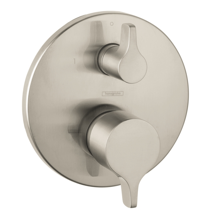 Hansgrohe 04448820 S/E Pressure Balance Trim with Diverter - Brushed Nickel