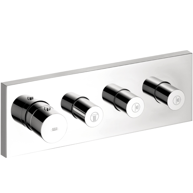 Hansgrohe 10751001 Axor Shower Collection Thermostatic Module Trim with Volume Controls - Chrome
