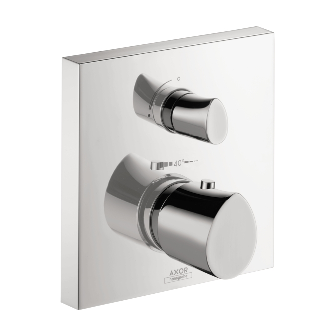 Hansgrohe 12716001 Axor Starck Organic Thermostatic Trim with Volume Control and Diverter - Chrome