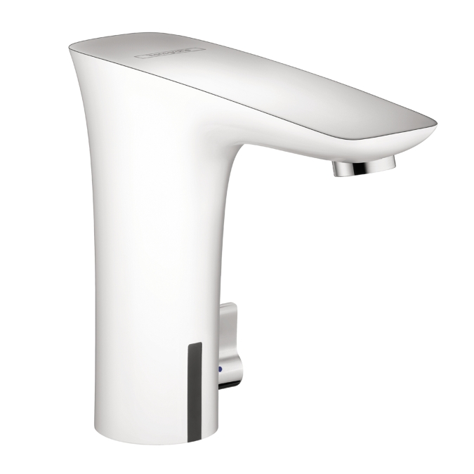 Hansgrohe 15170401 Puravida Electronic Faucet with Temperature Control - White/Chrome
