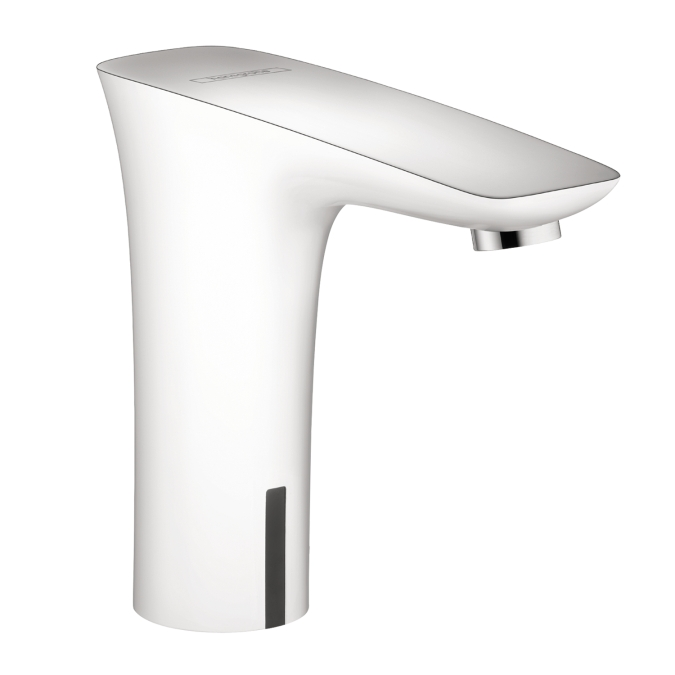 Hansgrohe 15171401 Puravida Electronic Faucet with Preset Temperature Control - White/Chrome