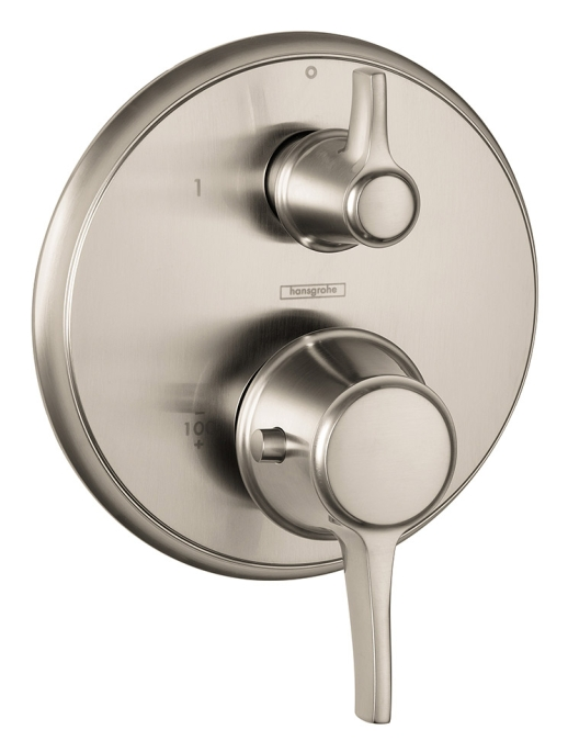 Hansgrohe 15752821 C Thermostatic Trim with Volume Control - Brushed Nickel
