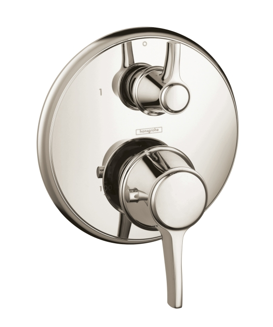 Hansgrohe 15752831 C Thermostatic Trim with Volume Control - Polished Nickel