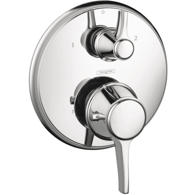 Hansgrohe 15753001 C Thermostatic Trim with Volume Control and Diverter - Chrome