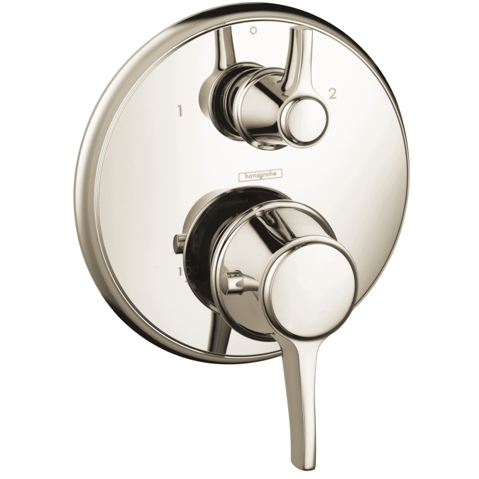 Hansgrohe 15753831 C Thermostatic Trim with Volume Control and Diverter - Polished Nickel