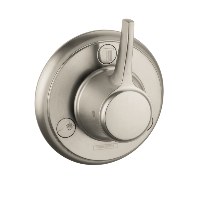 Hansgrohe 15934821 C Trio/Quattro Diverter Trim - Brushed Nickel
